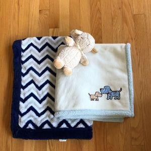 Baby bundle of blankets and Cloud b sleep sheep